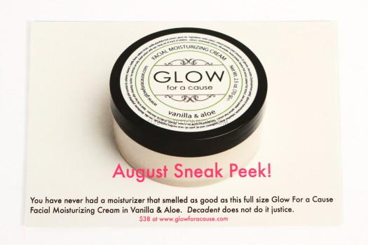 Glow For a Cause Facial Moisturizing Cream in Vanilla & Aloe