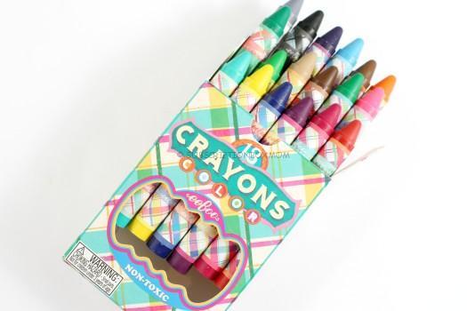 Eeboo Toys Plaid Crayons