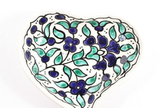 Hand-Painted Heart Dish, (Palestinian Territories)