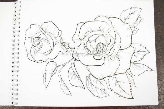 Rose Coloring Sheet