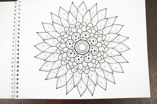Floral Coloring Sheet