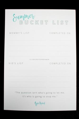 Intentionally Designed Summer Bucket List 5x7 (Custom Print)
