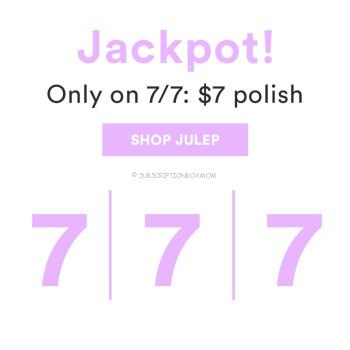Julep $7 polish on 7/7 only