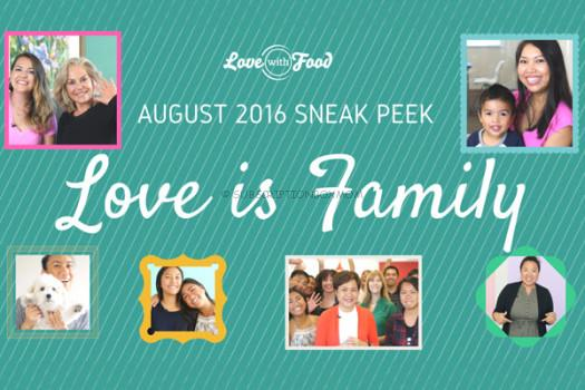 Love with Food August 2016 Spoilers