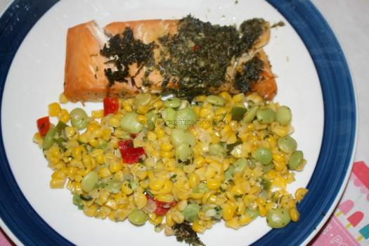 CHIMICHURRI SALMON with Succotash