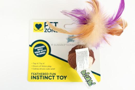 Pet Zone Feathered Fun Instinct Toy