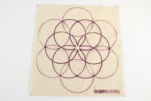 Hand-made cloth crystal grid