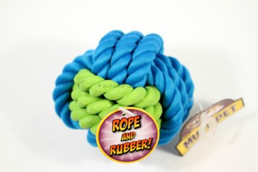 Multipet Rope with Rubber Ball Dog Toy
