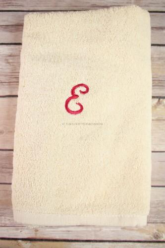 Boca Terry Monogrammed Face/Hand Towel in Ecru