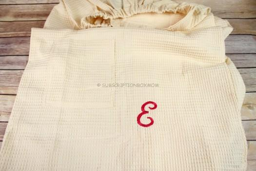 Boca Terry Monogrammed Spa Wrap in Ecru
