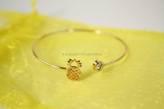Alexandra Collections Pineapple Cute out Bangle Bracelet