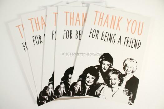 Thank You for Being a Friend Cards