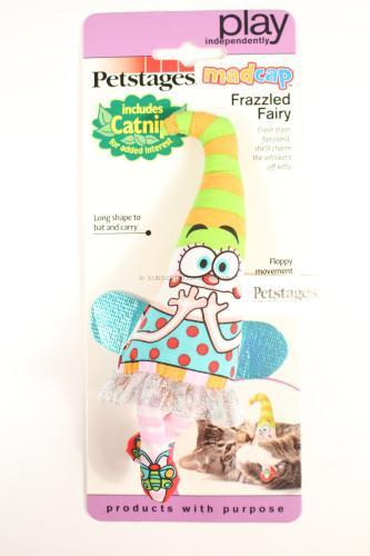 Petstages 747 Madcap Frazzled Fairy Cat Catnip Toss and Bat Plush Toy