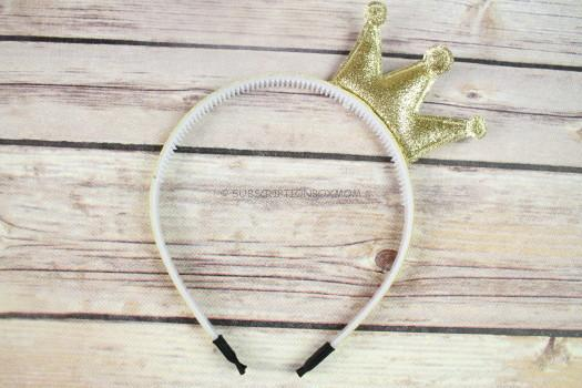 Gold Sparkle Crown Headband