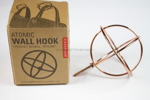 Kikkerland Copper Atomic Wall Hook