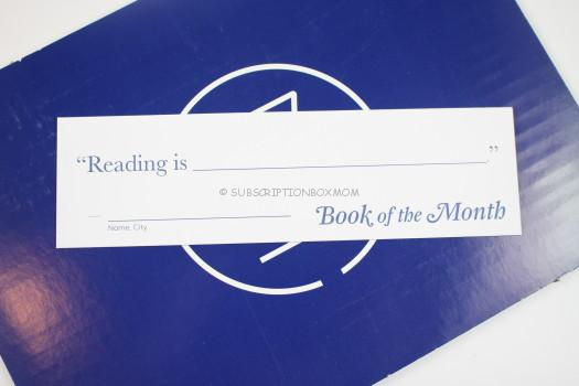 Book of the Month bookmark