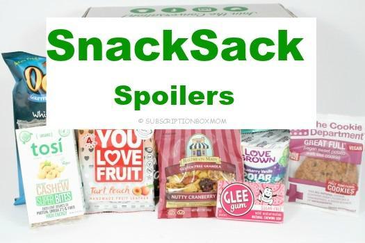 SnackSack August 2016 Spoilers
