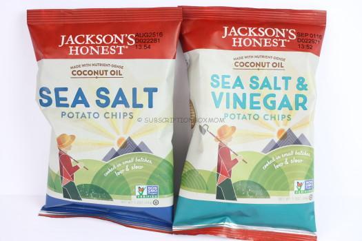 Jackson's Honest Sea Salt and Sea Salt & Vinegar Chips