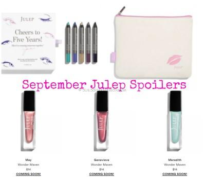 Julep Maven September 2016 Spoilers, Sneak Peeks