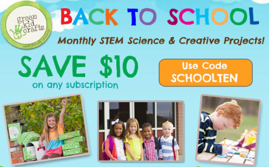 Green Kid Crafts August 2016 Coupon