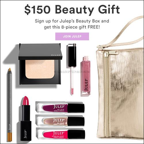 Free Julep Box worth $150 with Subscription