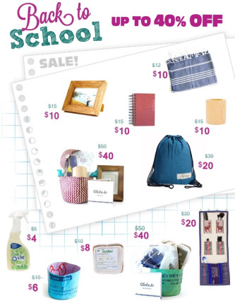 GlobeIn Back-To-School Sale