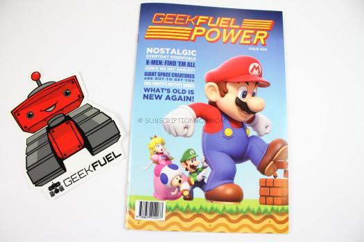 Geek Fuel Sticker and Magazine