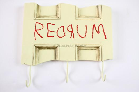 "EXCLUSIVE The Shining ""REDRUM"" Key Hook"