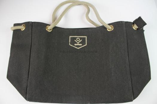 Sharkskin Gray Canvas Bag