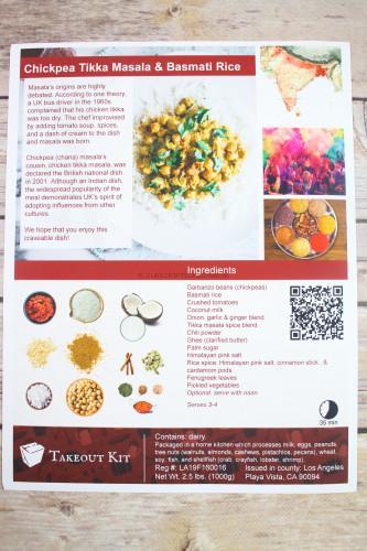 Chickpea Tikka Masala & Basmati Rice