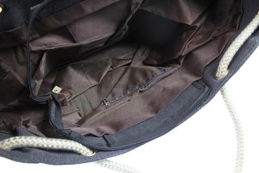 Sharkskin Gray Canvas Bag