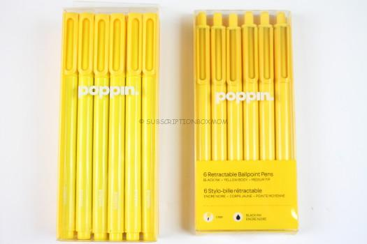 Poppin Yellow Signature Ballpoint Pins