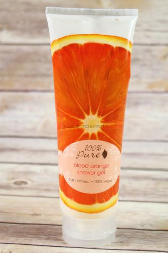 100% Pure Shower Gel in Blood Orange