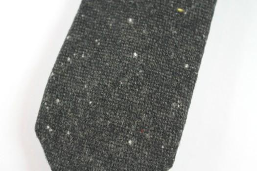 Curated Basics Speckled Charcoal Tweed Tie
