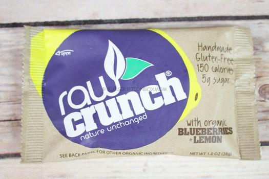Raw Crunch Bar Organic Blueberry Lemon