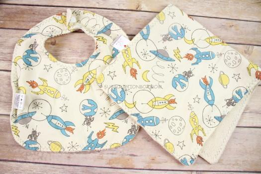 Sweetpea & Co Bib and Burpcloth