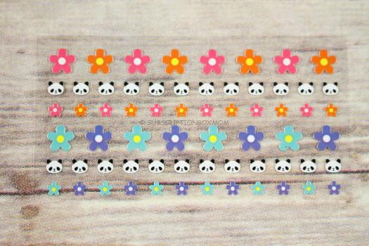 Pandas and Flowers