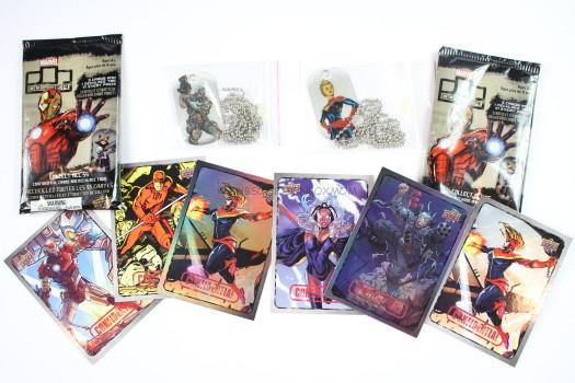 Marvel Dog Tag & Trading Cards