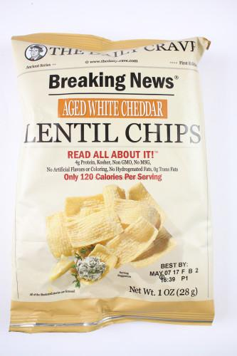 Aged White Cheddar Lentil Chips by The Daily Crave