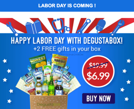 Degustabox Labor Day 2016 Coupon