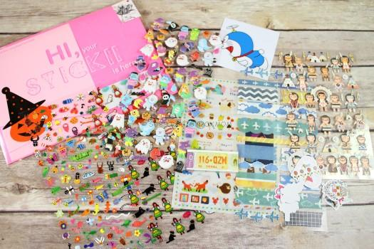 STICKII October 2016 Cute Sticker Review