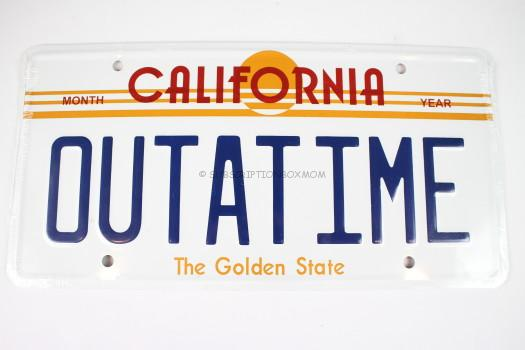 Back to the Future Prop Replica License Plate