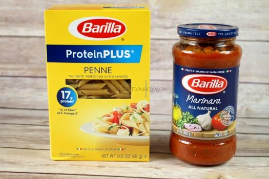 Barilla Protein PLUS Pasta and Barilla Marinara