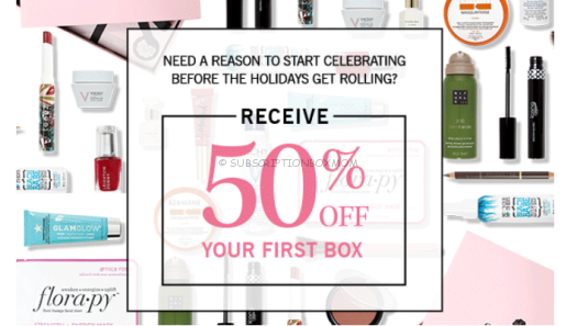 Glossybox 50% off 1st Month with Subscription