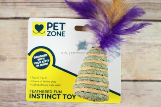 Pet Zone Feathered Fun Instinct Toy