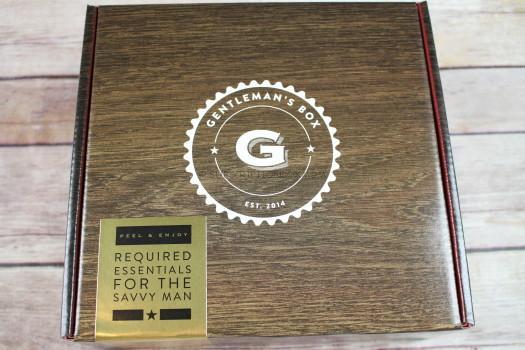 Gentleman's Box November 2016 Review