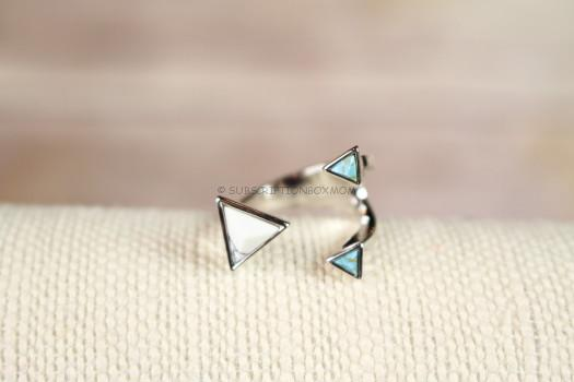 Wanderlust + Co Dusk to Dawn Marble Silver Ring