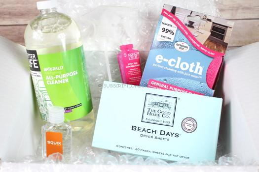 Squix QBox December 2016 Cleaning Subscription Box Review
