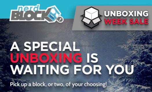 Nerd Block Unboxing Week Sale - Save 50%