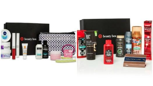 Target December 2016 Beauty Boxes for Him and Her